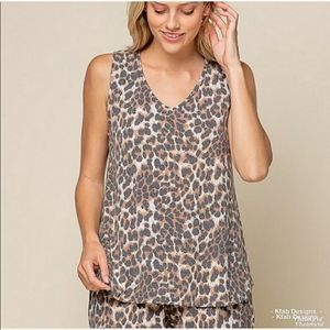 🐆 Animal Print Jersey Knit Relaxed Fit Top 🐆